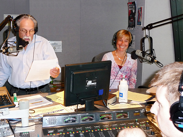 Robin Alexis and Bob Bordonaro in the studio
