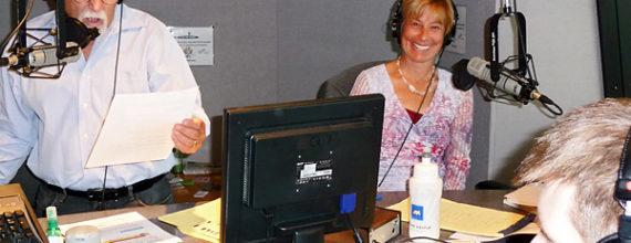Robin Alexis and Bob Bordonaro in the studio